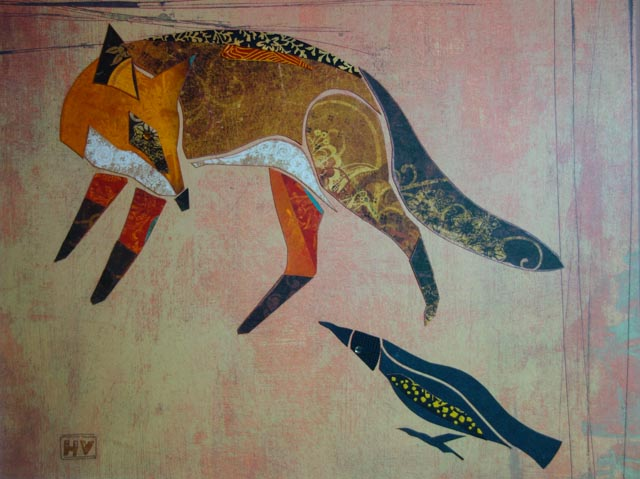 Conversation of Fox and Crow -Sold