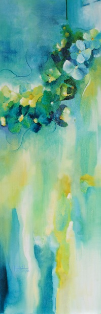 """For A Garden In Moonlight"" 12 X 36  Available"