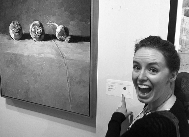 "Obviously very excited about ""Unearthed"" hanging at the Spring Salon - and especially excited to have sold the piece."