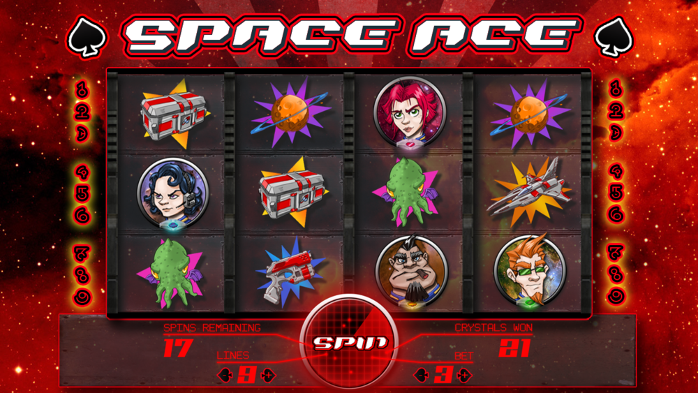 Space Ace Slot Machine Concept