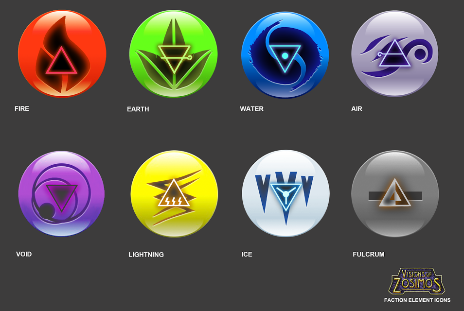 Elemental Faction Logos