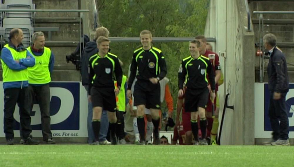 Til Hamar: Henrik Skjevestad (t.h.) og Torkjell Trædal (i midten) skal til NTF U19.