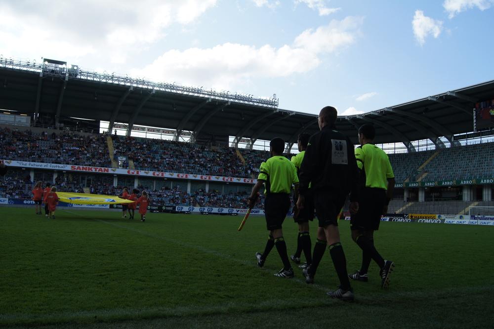 Finalene i Gothia Cup har tidligere blitt spilt på Ullevi. I år får trolig oslodommerne entre en splitter ny finalearena midt i Gøteborg sentrum.