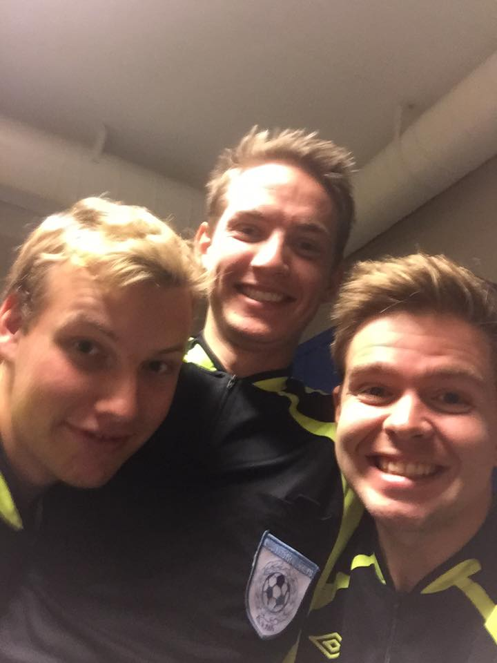 En fornøyd trio!