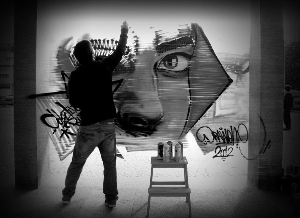 pintura ao vivo. Show graffiti. Graffiti ao vivo