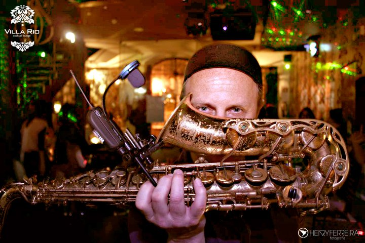 Musician for hire. Saxophonist