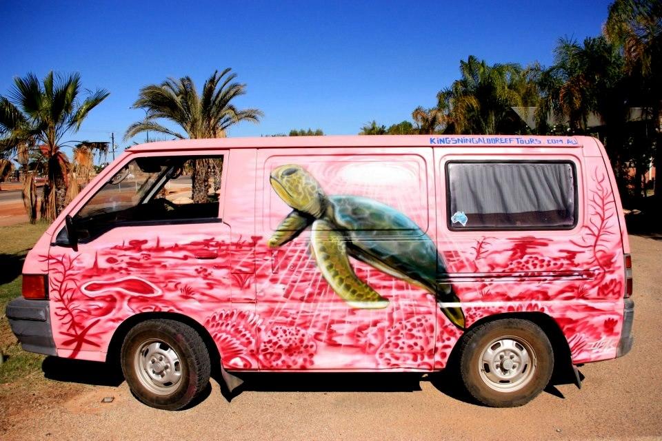 cool street art on car.jpg