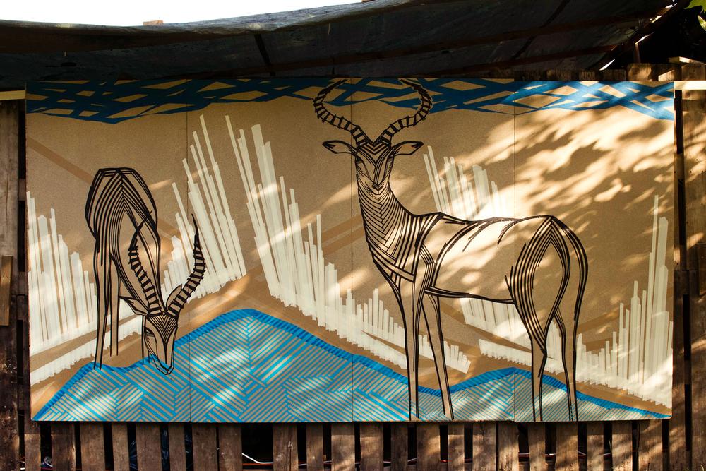 TAPE ART by TAPE OVER_impala antelopes_Fuchsbau Festival 2014.jpg