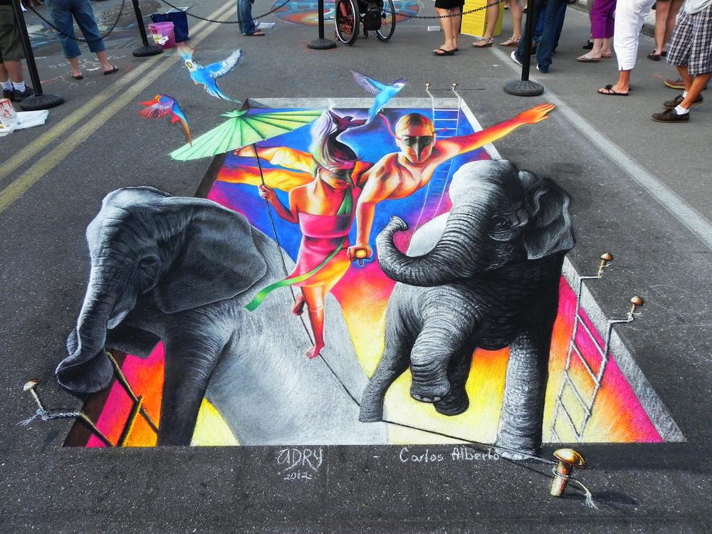 Arte 3D no chão   Descobre artistas