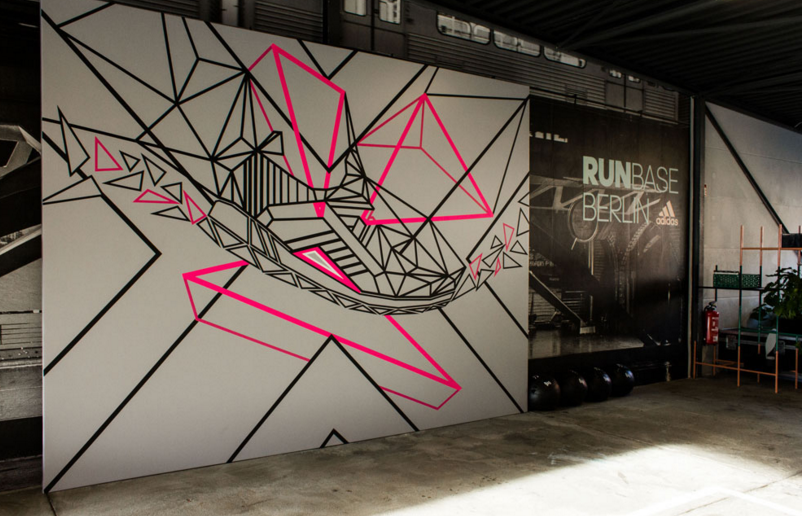TAPE OVER x Adidas Run Base Berlin