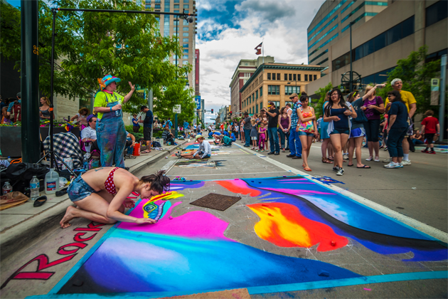 Denver Chalk Art Festival - Photo by Evan Semon