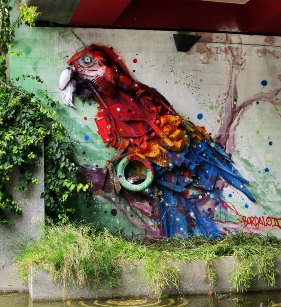 Bordalo II's art made of trash