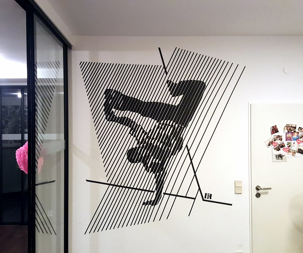 Dancer made of tape by Ostap