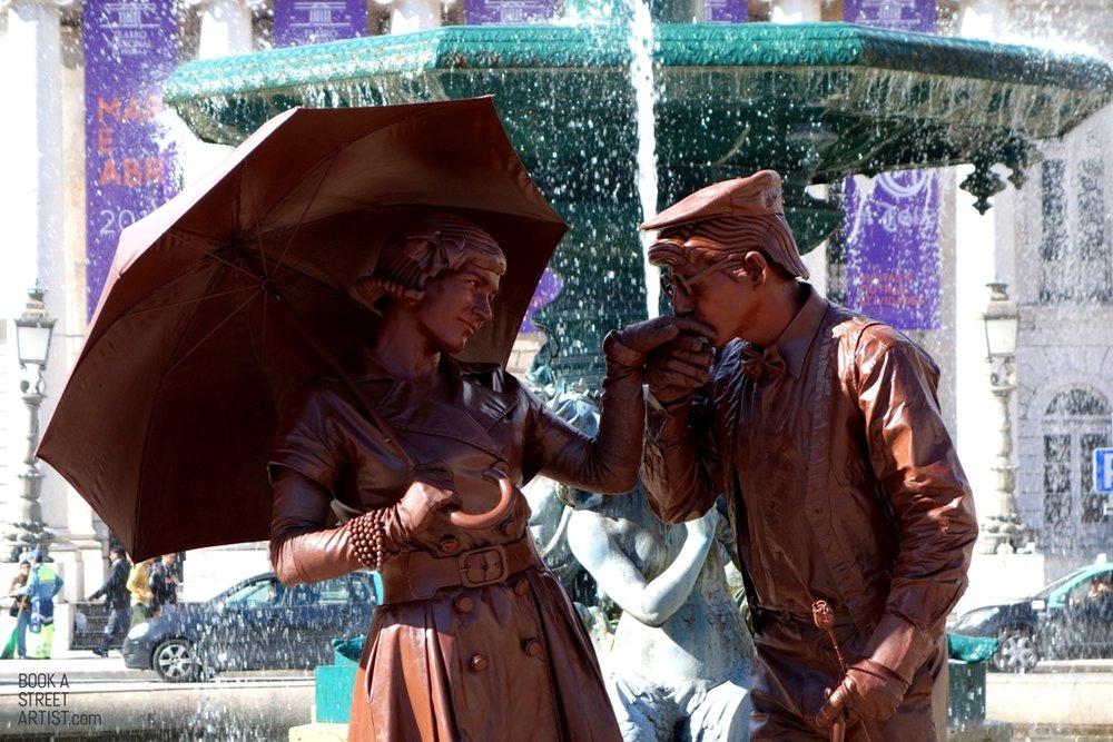 """Photo: """"o casal de chocolate pelos Quideia"""