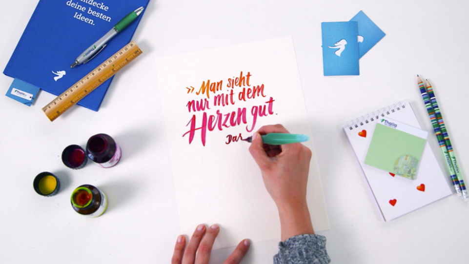 """Hand Lettering by Vikunia (""""You only see well with the heart"""")"""