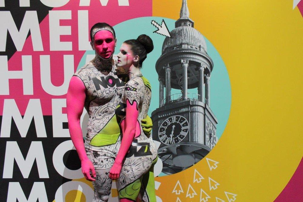 Bodypainting bei dem Online Marketing Rockstars Festival 2017,Foto von Léonie Géne