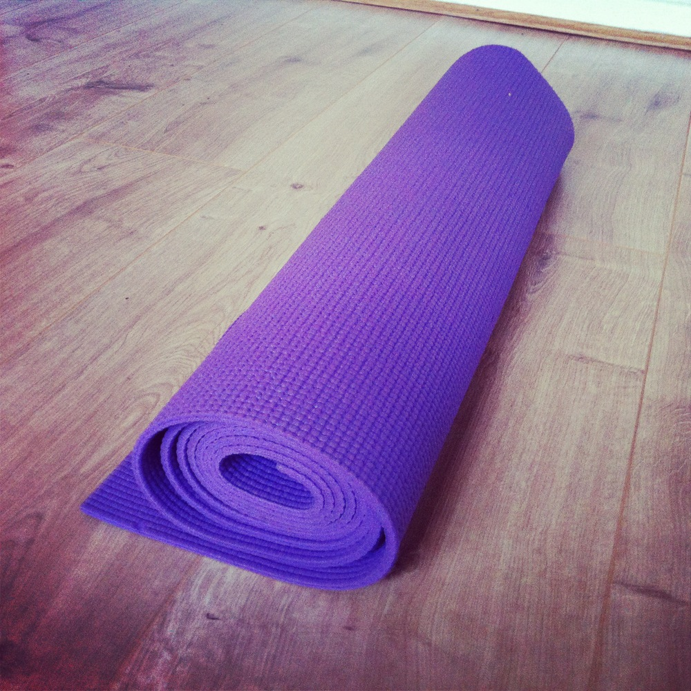 A yoga mat and a willing attitude...the only requirements for beginning a yoga practice