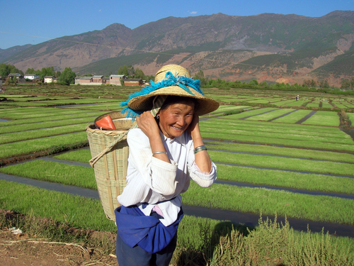 Rural farmer in Qing Yunnan, China c. Hong Meen Chee
