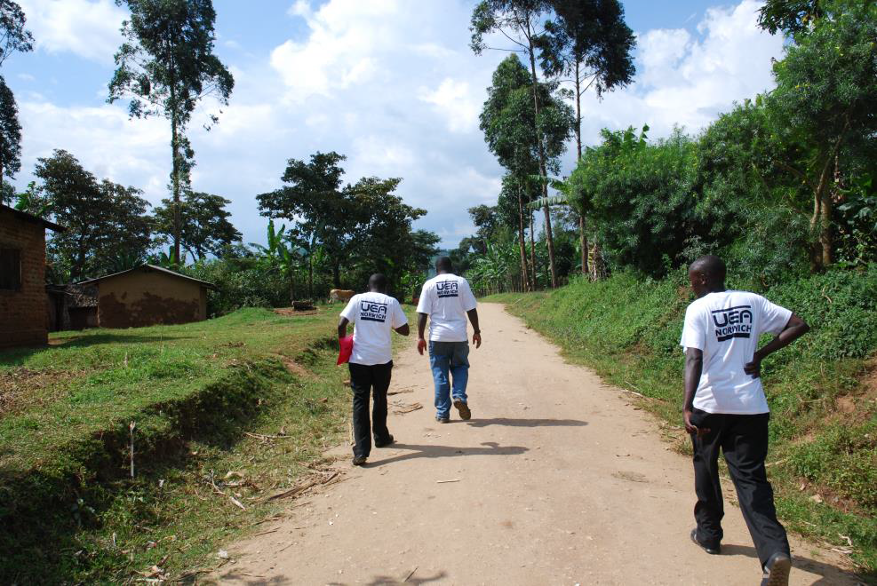 University of East Anglia project team members, Uganda 2015