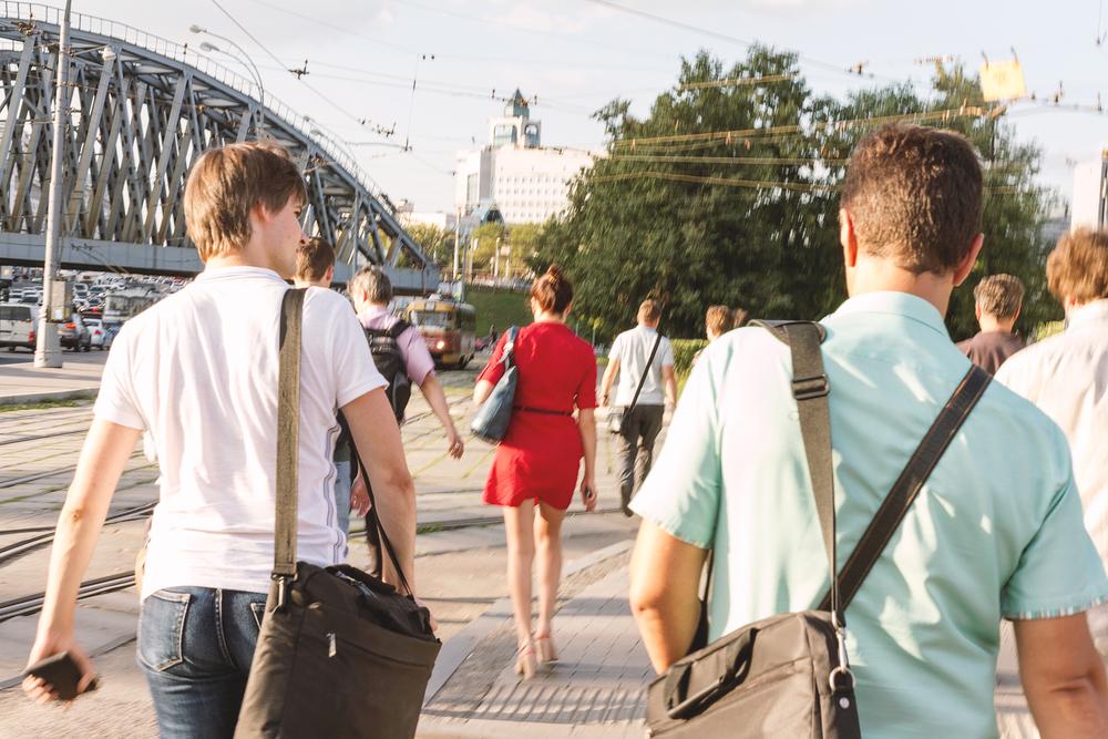 Ute å vandrer i gatene