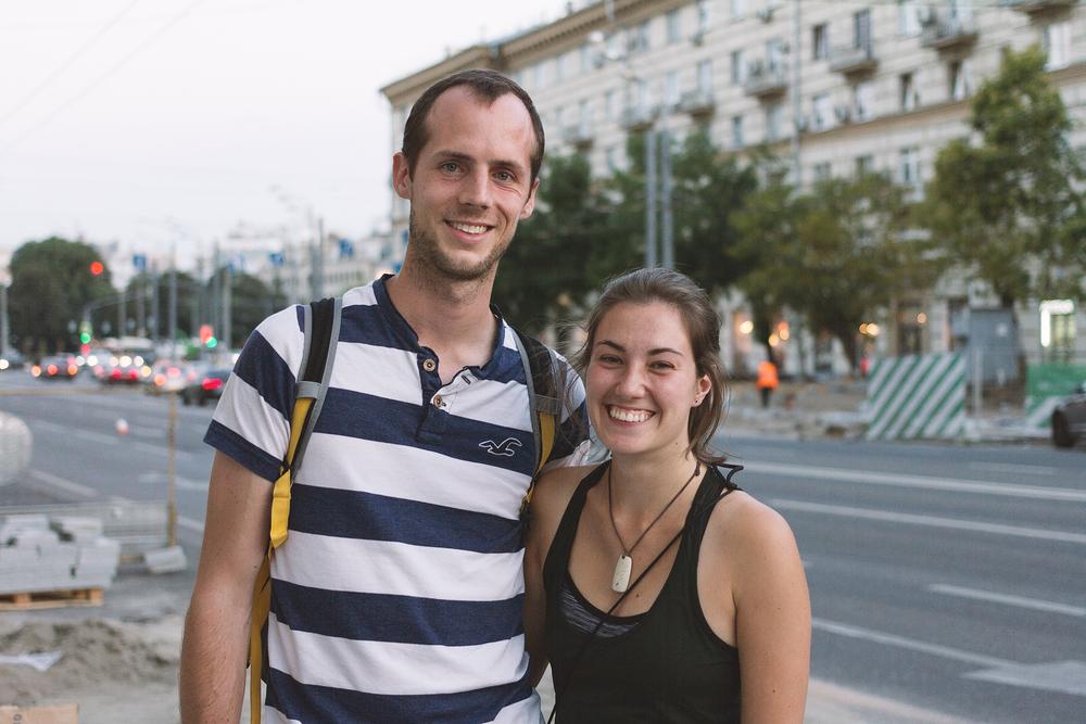 Chris og Sarah!