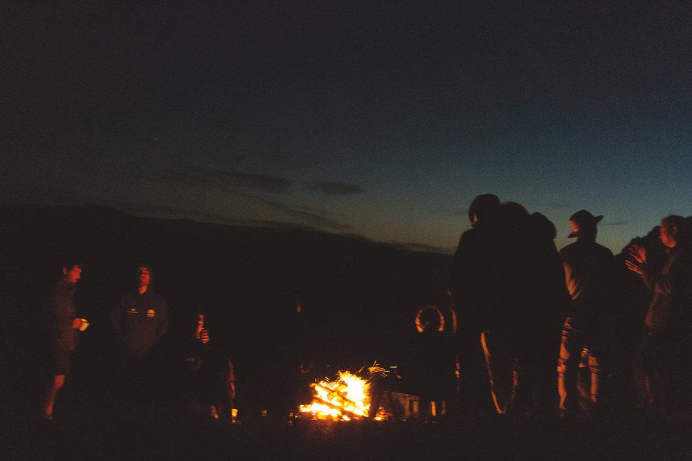 Bål om kvelden