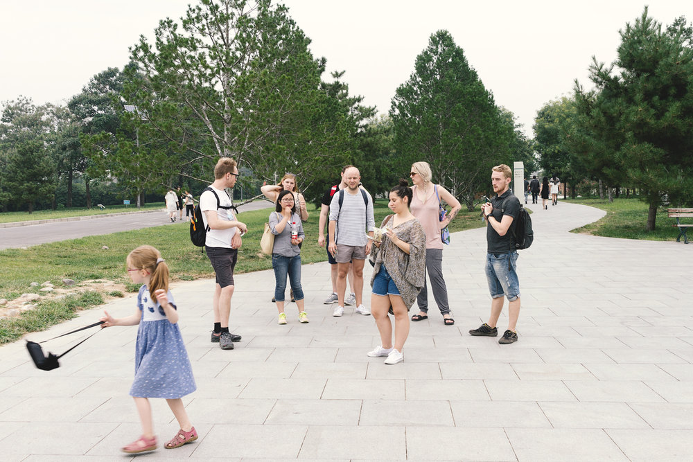 Gruppen vår som reiste sammen til terracottaene.