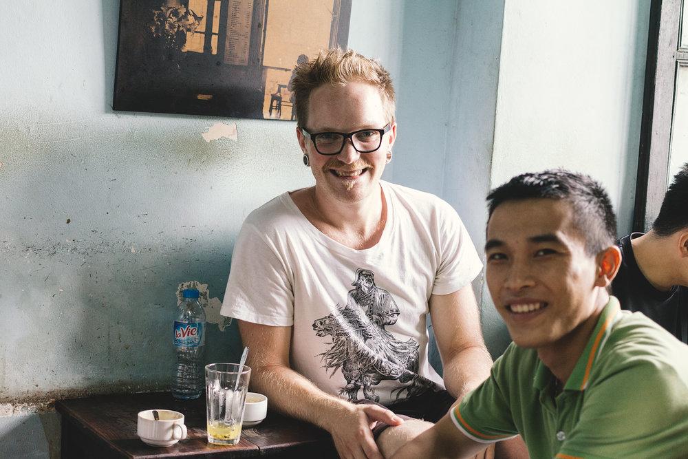 Egg-kaffe i Hanoi