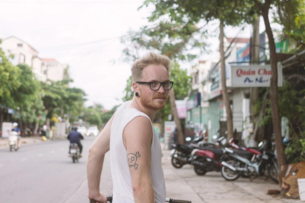 På sykkeltur i Hanoi