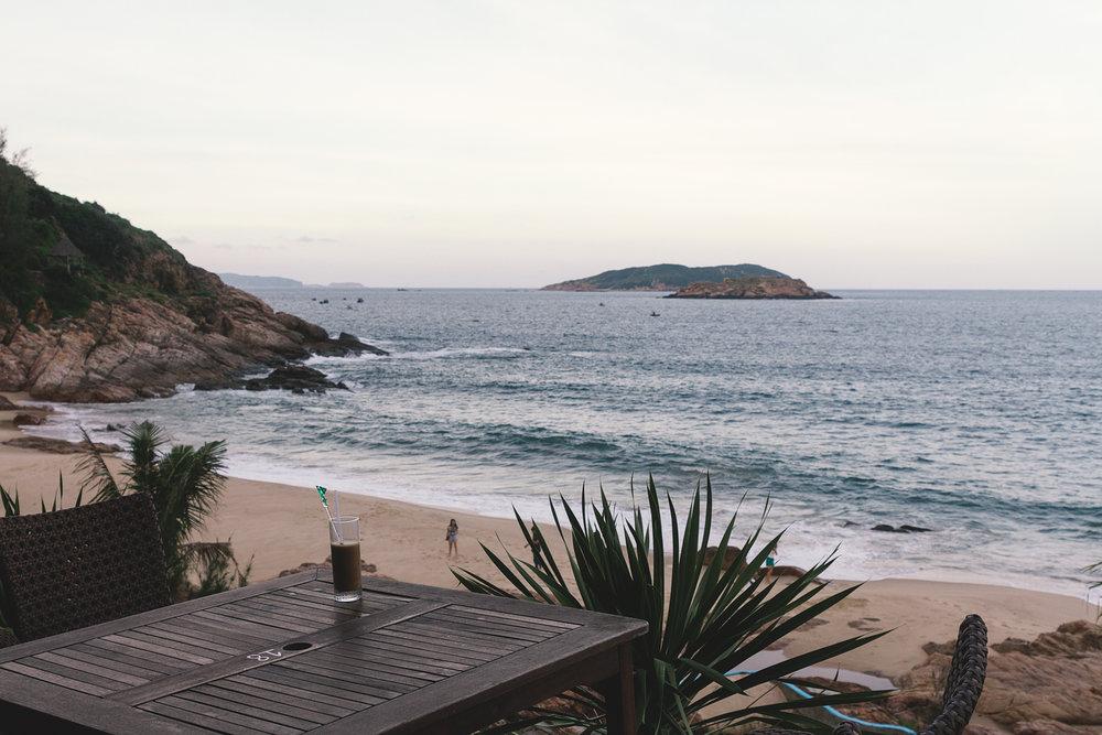 The beach - utsikten fra restauranten