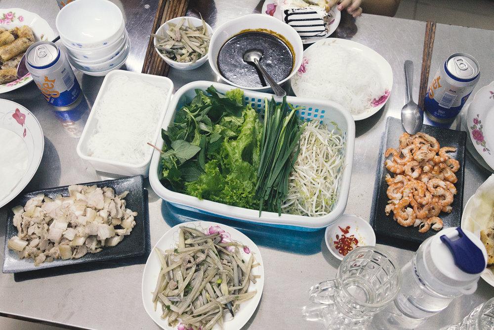 Maten vi fikk servert hjemme hos Drachan.
