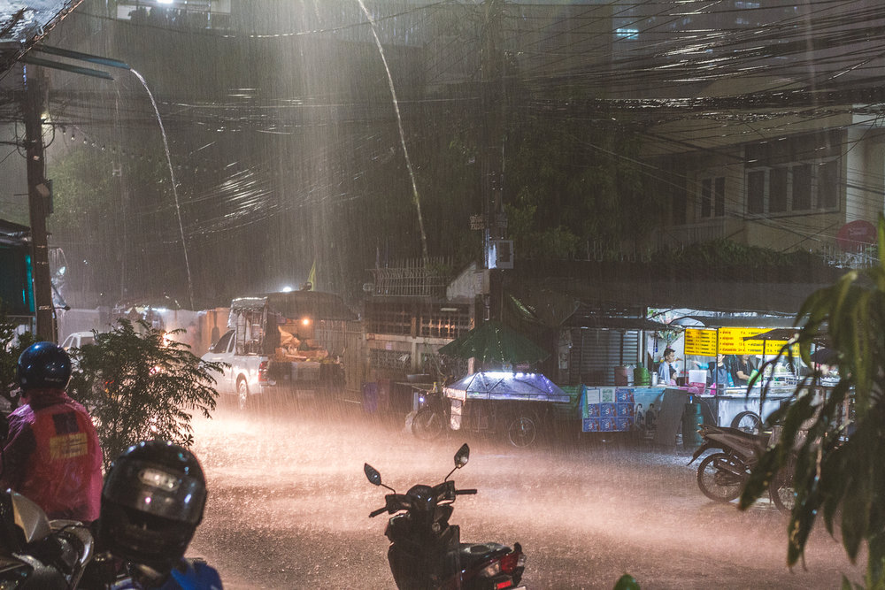 Pissregn i Bangkok