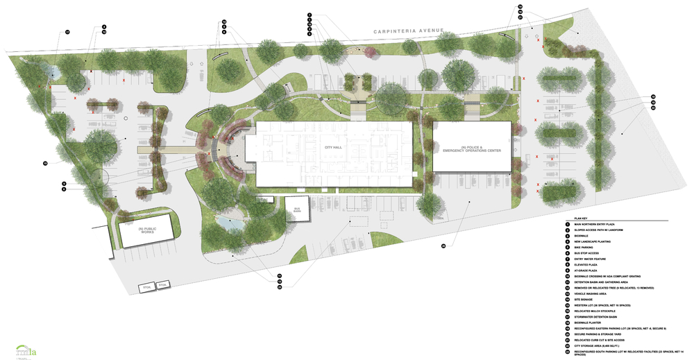 Master plan of coastal California town's City Hall Campus