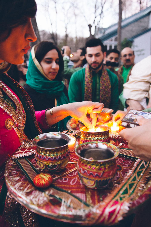Pakistani Wedding Ritual of candle lighting