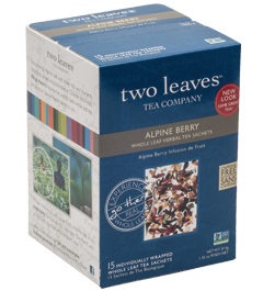 Alpine Berry: We turned to Hibiscus, blackberry leaves, and orange peel when we created this tea and it reminded us of a wonderful hike in the mountains of Colorado, where we live. This bright berry tea brews up a beautiful jewel-toned shade of red. Perfect for sipping on a cold day, or refreshing over ice.