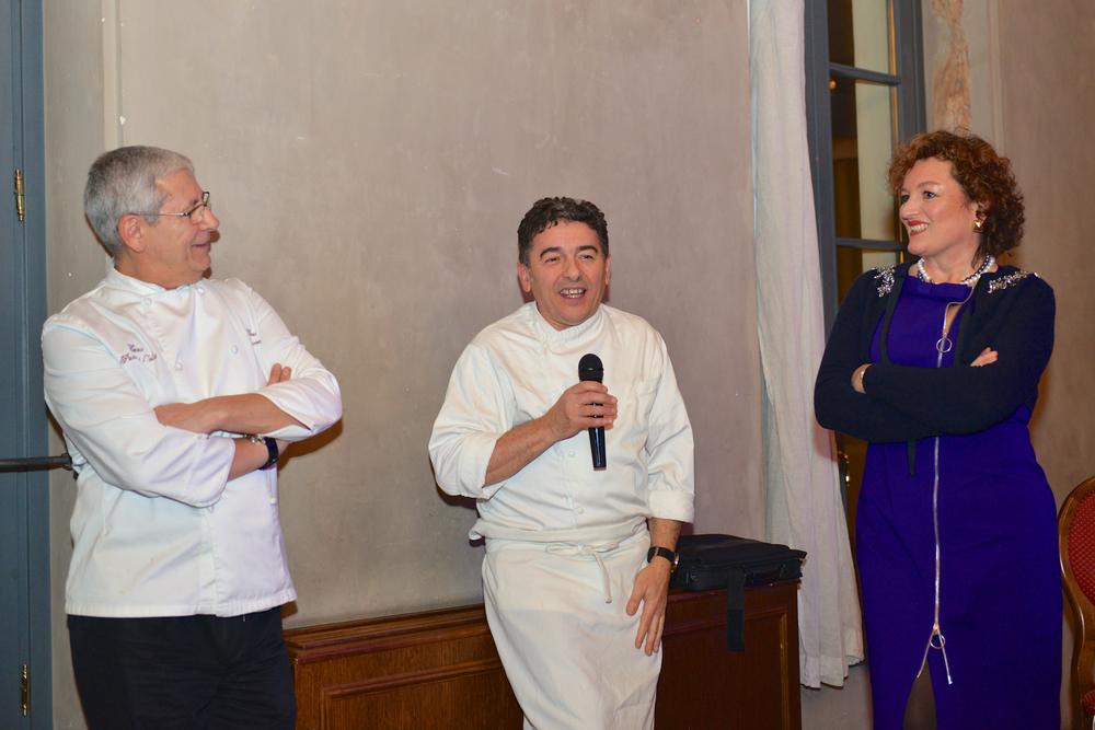 Da sinistra: Tano Simonato, Giacomo Gallina ed io