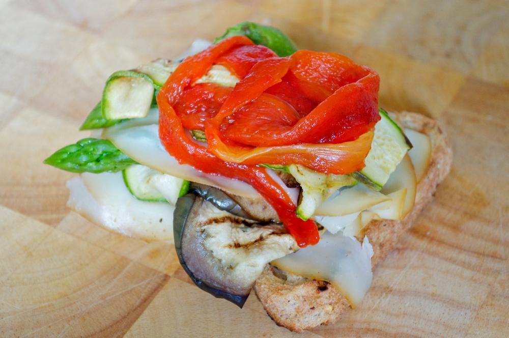panino verdure grigliate salsa menta