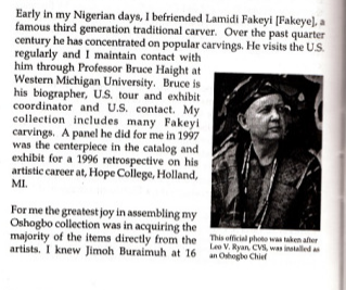 Brother Leo Ryan as featured in a book about Africa