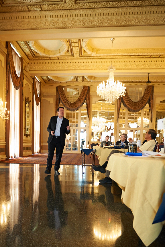 Giving a talk at the Missouri Athletic Club