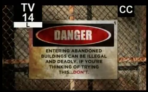 """This is the opening frame of the show """"Salvage City"""" designed to imply just how dangerous it is to save historical items in the city of St Louis."""