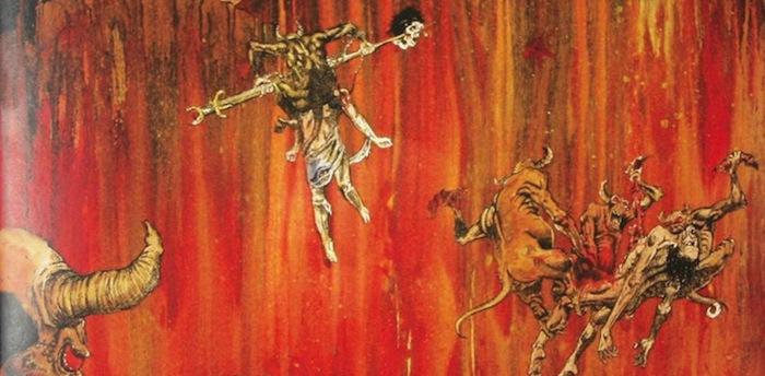 "Album art from Slayer's ""Hell Awaits"""