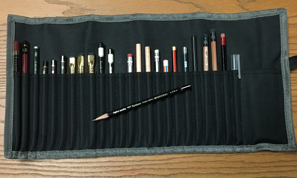 The cheap pencil roll I carry... and love.