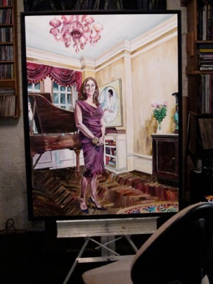 "Marjorie ,  30""x40"", Acrylic and Varnish on  Canvas, 2012"