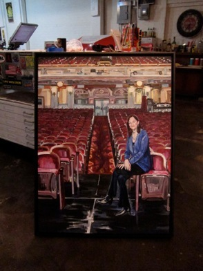 "Karen, BAM Opera House, 30""x40"", Acrylic and Varnish on Canvas, 2012"