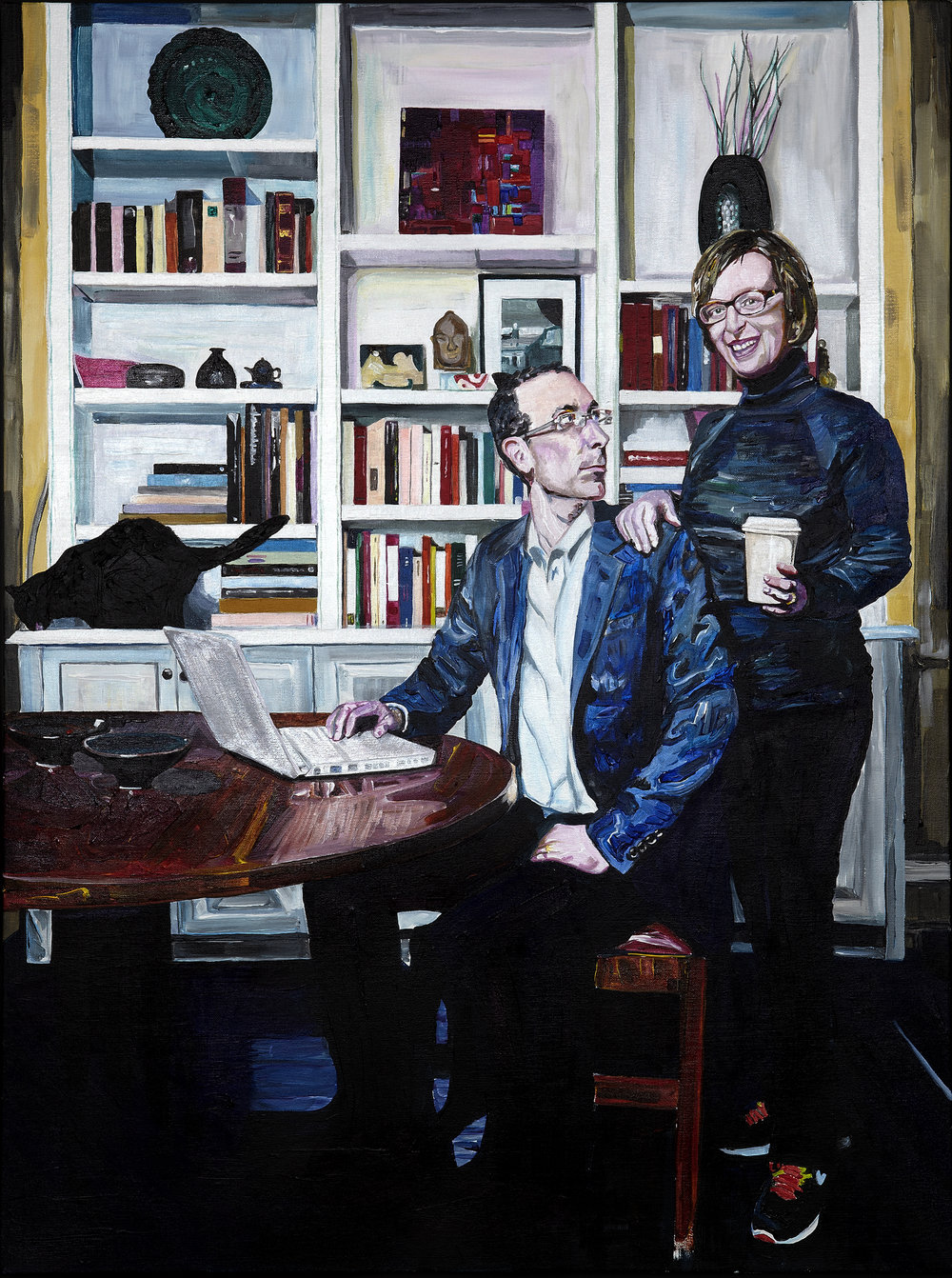 "Todd & Kathy Galitz (for David), 2012  Acrylic and varnish on canvas  40"" x 30""  [Private Collection]"