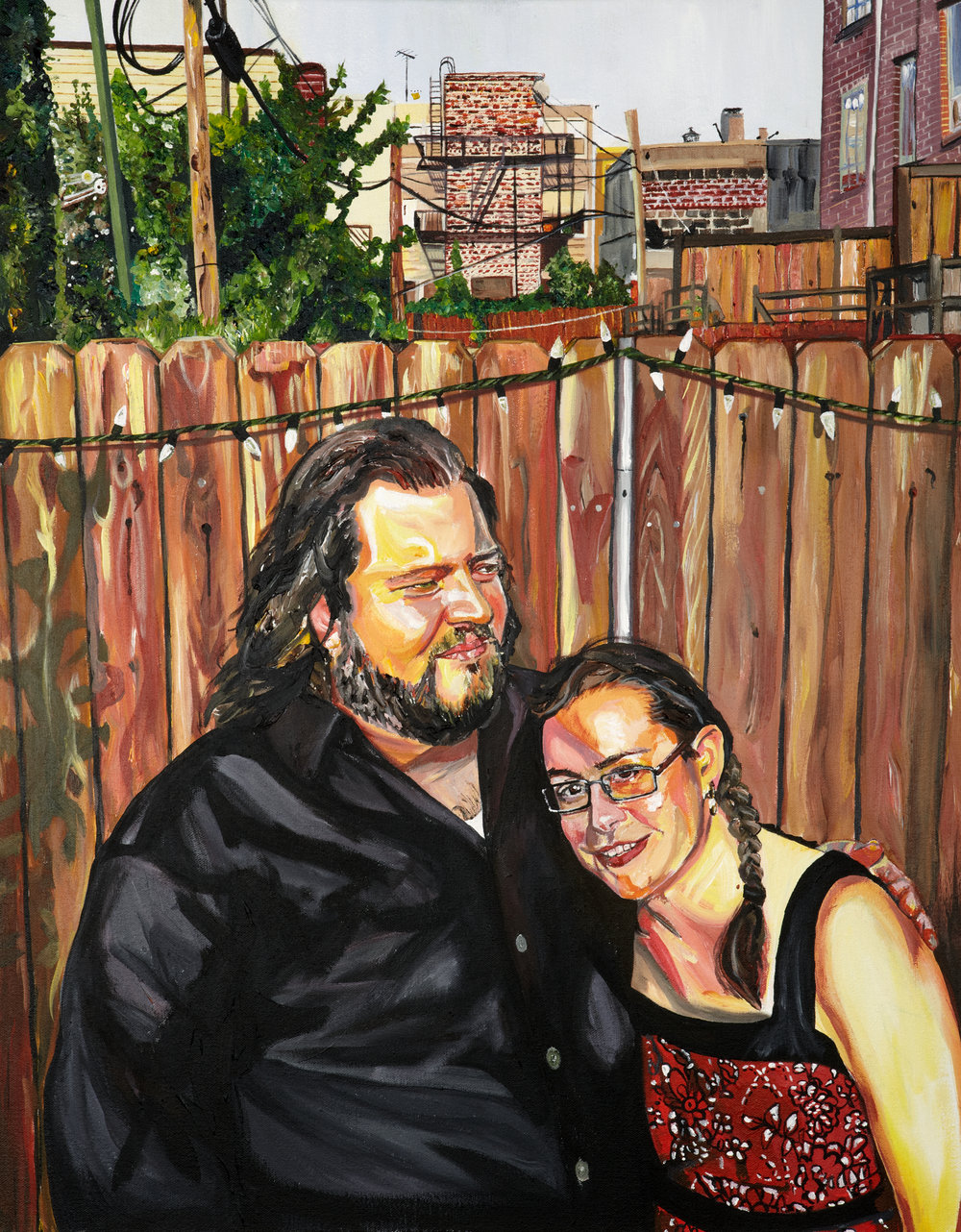 "Sean and Emily , 2011  Acrylic on canvas  30"" x 24""  [Private Collection]"