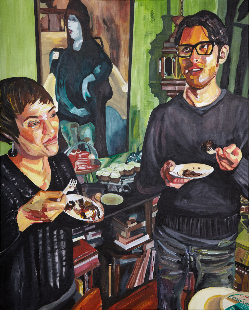"Asha and Todd , 2011  Acrylic on canvas  30"" x 24""  [Private Collection]"