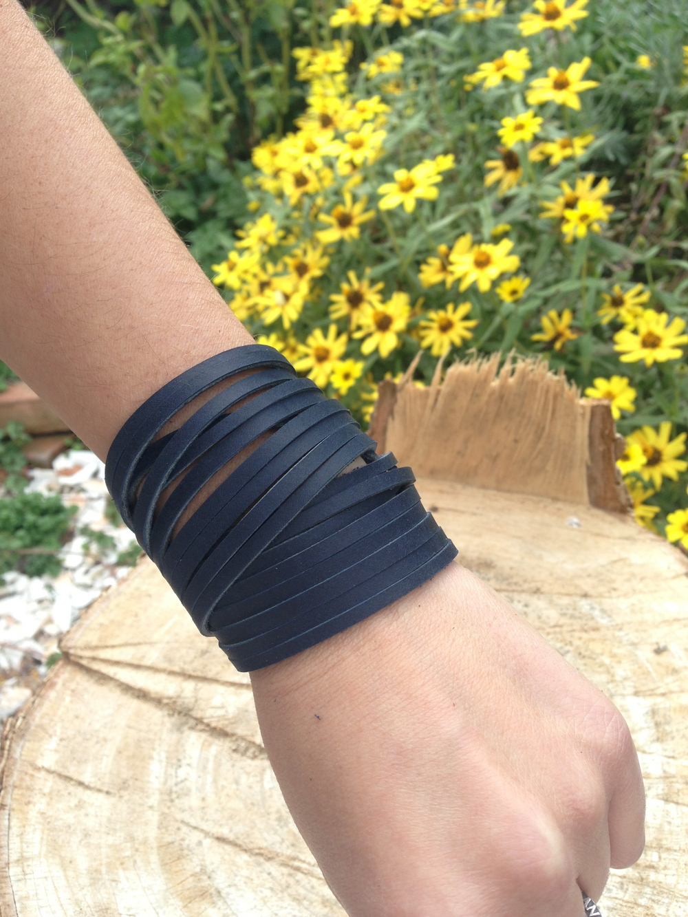 Double wrap    navy blue