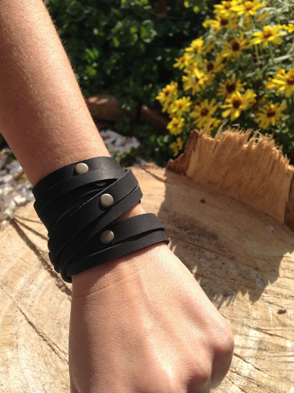 Multi wrap stud   charcoal black