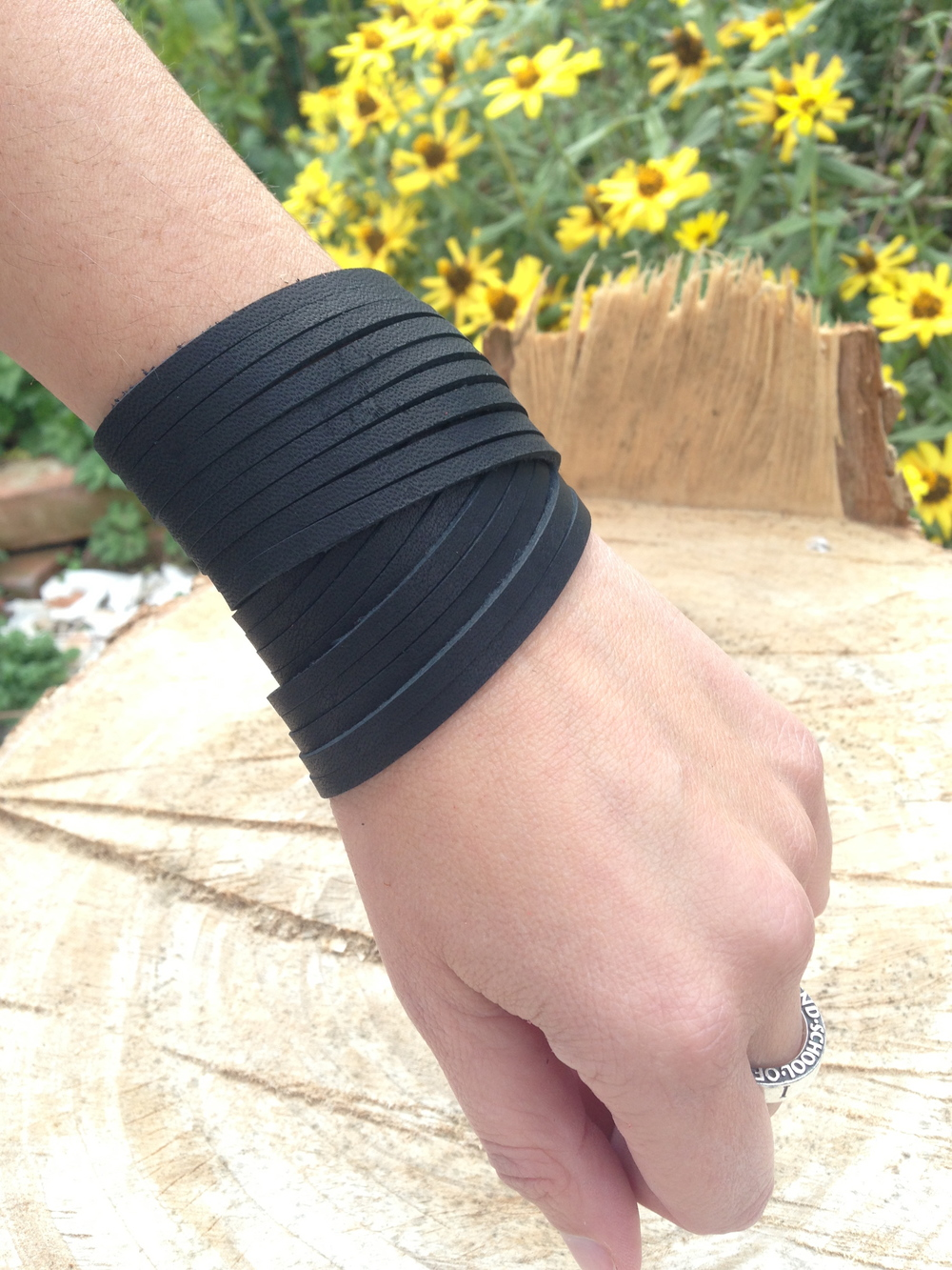 Double wrap   charcoal black